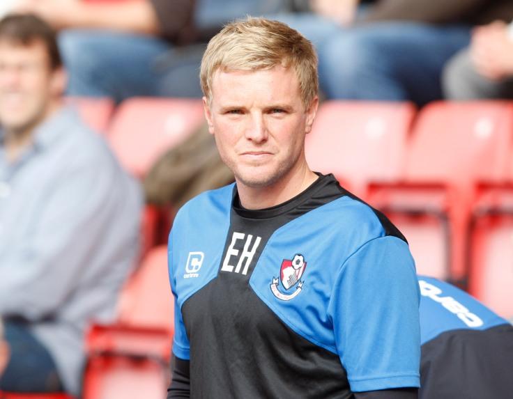 Eddie Howe, manager de Bournemouth, élu par ses pairs au mois de novembre.