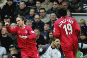 Une des 16 réalisations de son petit total de buts qu'il inscrit sous le maillot des Reds...