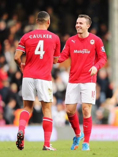 Caulker et Mutch: 12 buts pour Cardiff à eux deux l'an dernier. (I. Zimbio)