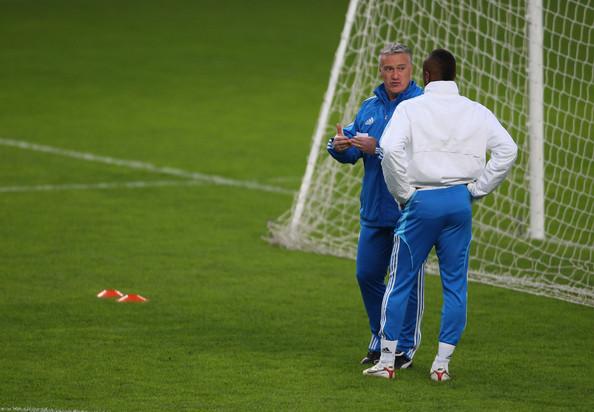 Didier+Deschamps+Andre+Ayew+Marseille+Training+G5TIzExEVC2l