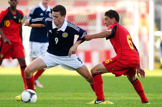 Jack Harper avec les U19 de l'Ecosse  Crédits: Daily Record